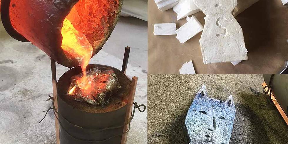 NEW!!特別企画!青空鋳造!他ではできない本格体験を。金属の彫刻作品をつくろう