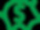 Porquinho de moedas com um cifrão, represent baixo investimento