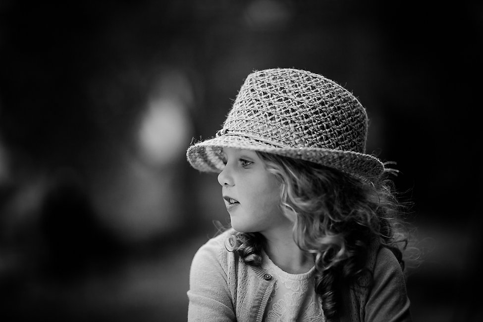 Child's portrait in natural light