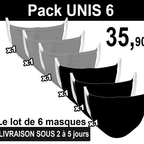 PACK UNIS ADULTE X6