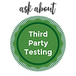 ask about third party testing