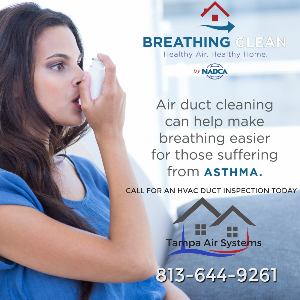 Air duct cleaning can help make breathing easier for those suffering from asthma
