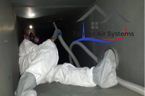 image of technician cleaning commercial airducts