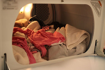 Image of an opened dryer