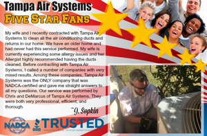Congratulations, Demarcus and Chris! You do great work and our customers notice. #airductcleaning #rockstars #nadcacertified #breathingclean #tampairductcleaning #expertairductcleaning #licensedandcertified #trusted #tampaairsystems #weloveouremployees