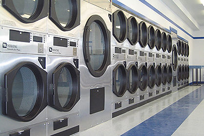 Image of laundromat demonstration commercial dryer vents