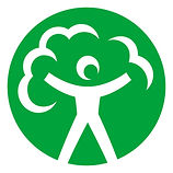 environment agency visual logo with white figure on green background