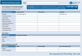 View or download a printable personal flood plan