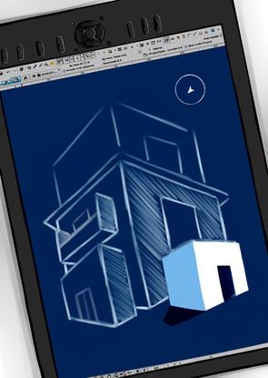 Ilustration for an architect bureau