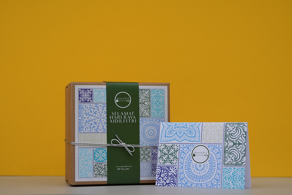 Batik Raya Eid Cookie Gift Box Set Hamper