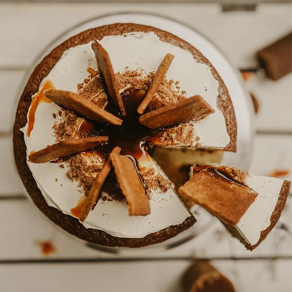 vegan orange gula melaka cake