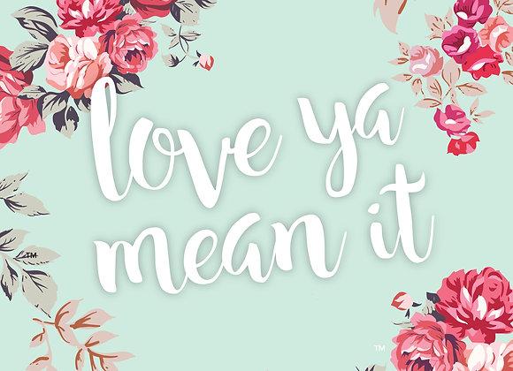 Love Ya Mean It 5x7 Print