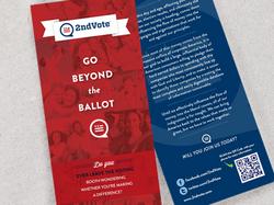 2nd Vote Political Rack Card