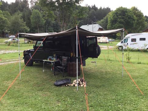 Vehicle camping