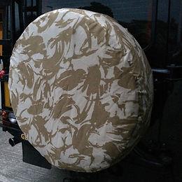 UK desert camo 4x4 spare wheel cover