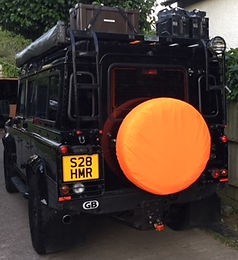 4x4 spare wheel cover, safety orange