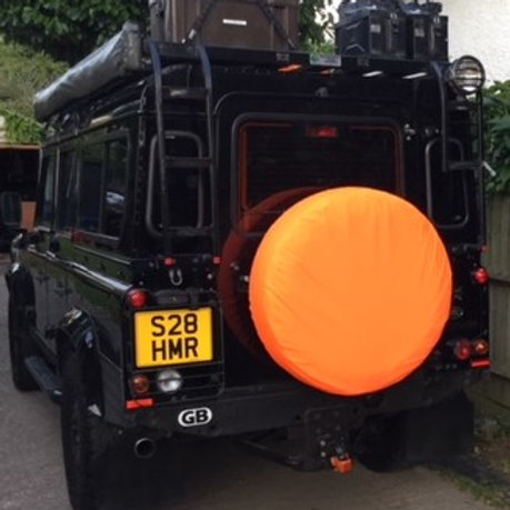 4x4 Spare Wheel Cover Safety Orange