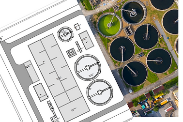 wwtp extension civil drawing with existing facility