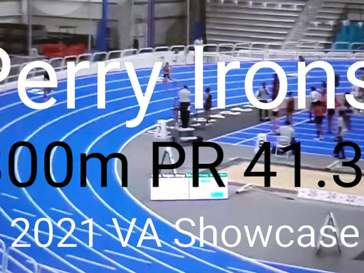 Perry Irons Smashes Her Previous 300m PR