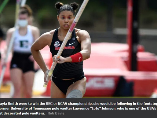 Pole vaulter Kayla Smith chases history in her final college season