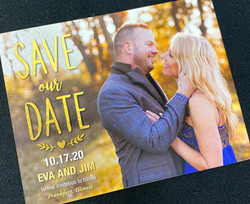 Single Photo Gold Type Save the Date