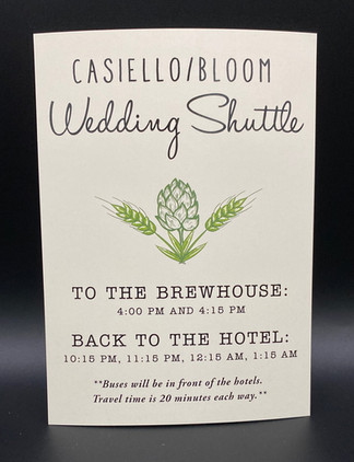 Wedding Shuttle Card