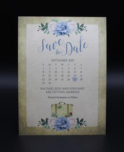Floral Calendar Save the Date