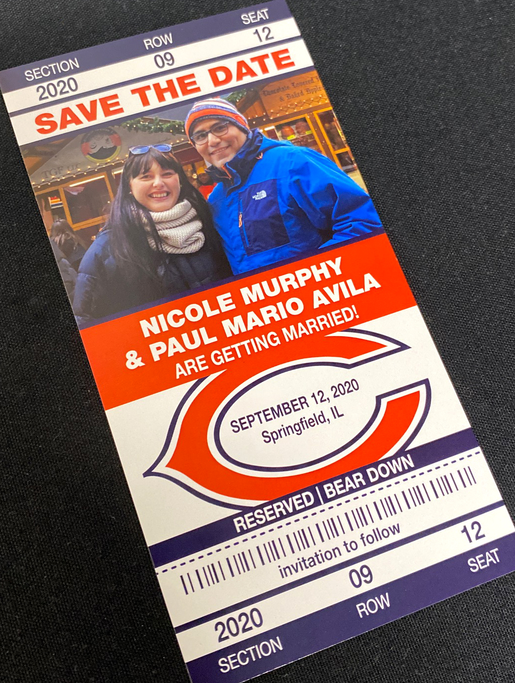 Bears Ticket Save the Date