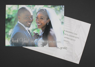 Two Sided Thank You Card with Message