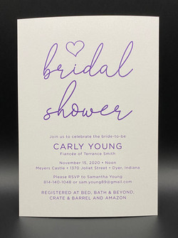 Purple Simple Bridal Shower