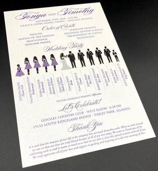 Silhouette Card Wedding Program