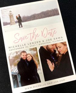 Three Photo Grid Save the Date