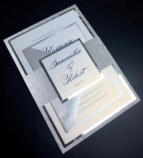 Silver Mirror Invitation