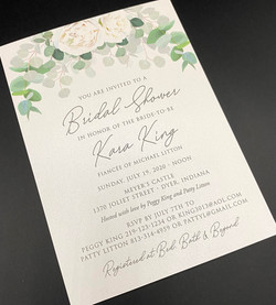 White Floral Greenery Bridal Shower