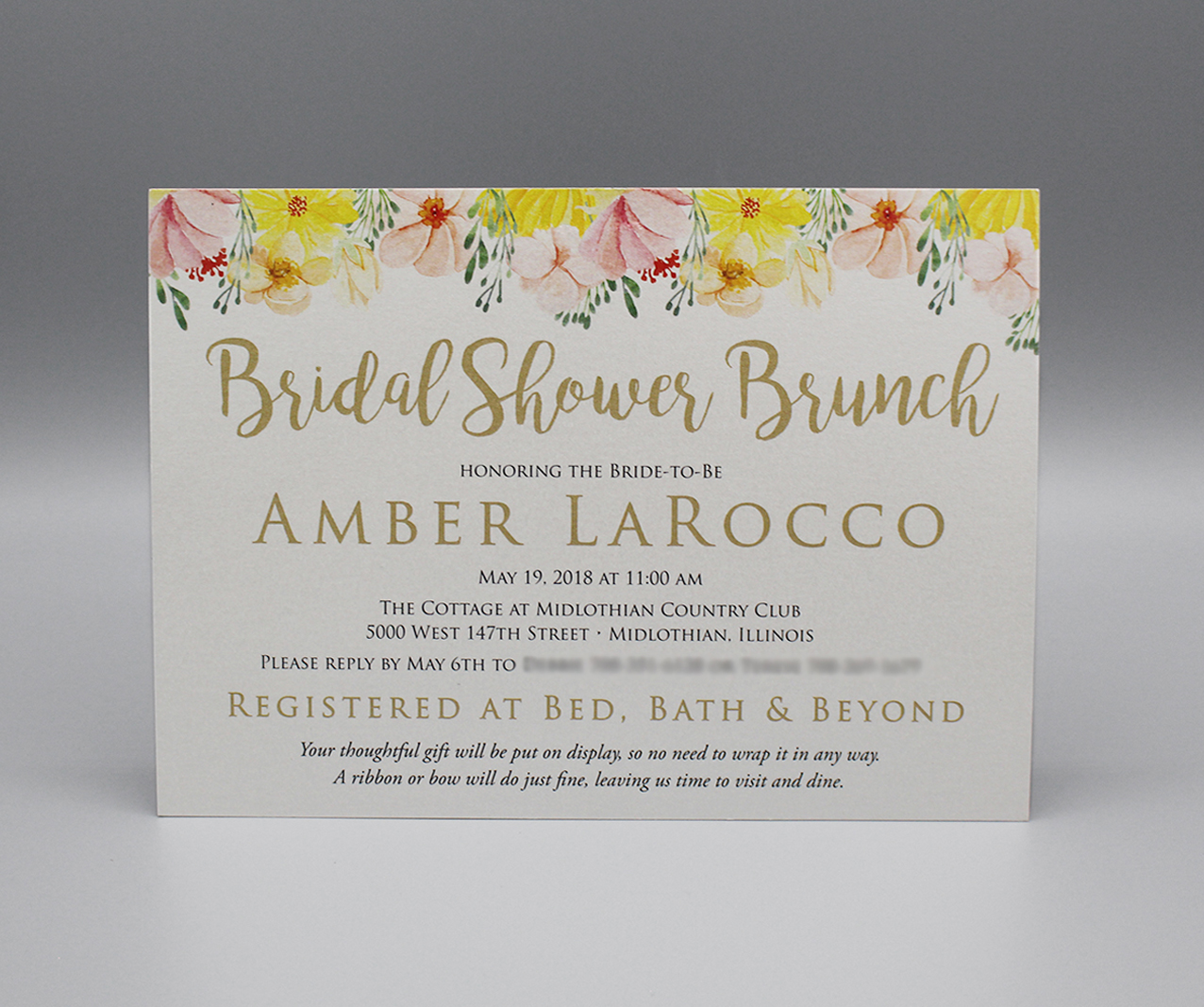 Horizontal Floral Bridal Shower