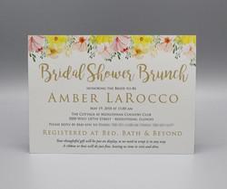 Horizontal Floral Bridal Shower