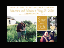 Gold Photo Collage Save the Date