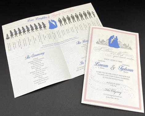 Cinderella Wedding Program