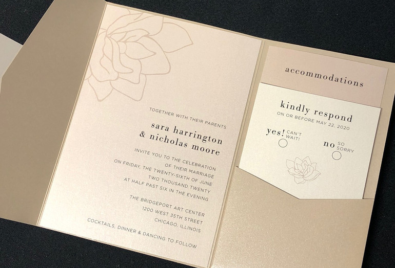 Neutral Color Pocket Invitation