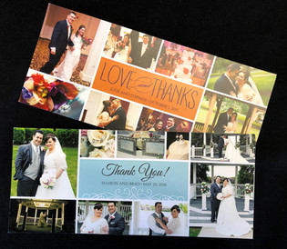 Long Photo Collage Thank You Cards