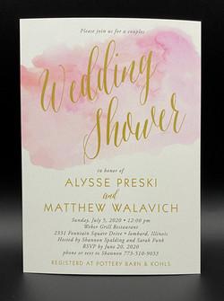 Pink Watercolor Bridal Shower