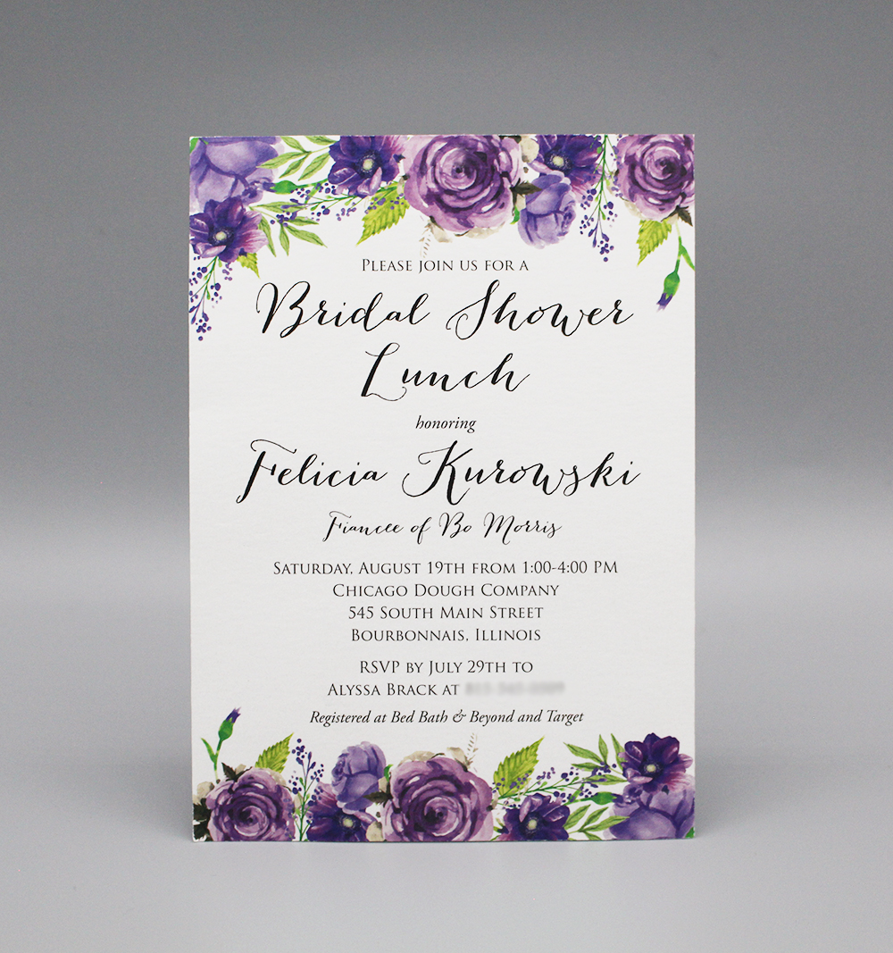 Purple Floral Bridal Shower