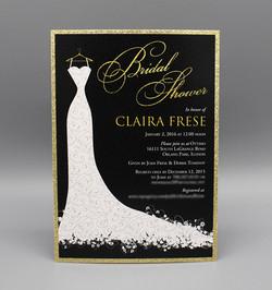 Gold Glitter Dress Bridal Shower