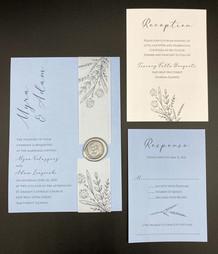 Blue Vellum Wrap Invitation