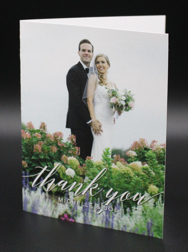 Standard Folded Thank You Card Vertical
