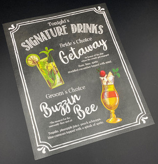 Chalkboard with Border Signature Drink Sign