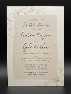 Simple Hand Drawn Floral Bridal Shower