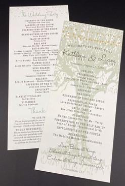 Tree Card Wedding Program