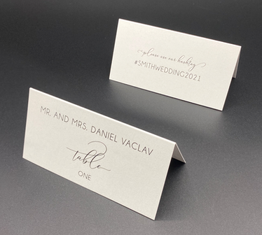 Simple Place Card with Hashtag