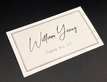 Simple Flat Place Card